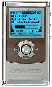 The discontinued iRiver H120 portable MP3 player had a mic input and recorded in PCM and MP3 formats.