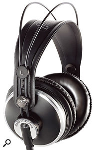 As closed-back headphones go, AKG's K271 headphones are actually pretty uncoloured, with a frequency response that's relatively flat.