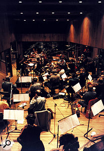 Orchestral recording at Angel Studios, London — some compression techniques are unique to classical recording.