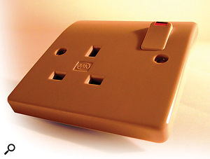 If you want to avoid ground loops, it's best to run all your music-making gear from a single mains socket (like this UK one, shown).