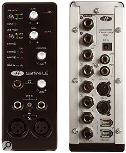 A rare case of less is more: Focusrite's Saffire LE has two more audio inputs than the higher-end model.