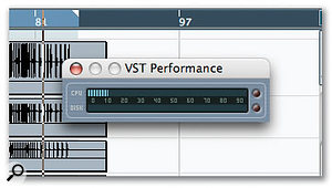 Freezing tracks, adjusting the buffer size and using single send effects instead of multiple inserts can all help reduce CPU overhead.
