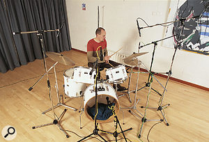 When recording drums, applying limiting as you record can destroy valuable transients.