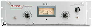 The term levelling amplifier was common in the '50s and '60s, and was clearly written on the front of the compressors of the time, such as the Teletronix LA2A, pictured below. This unit is still manufactured by US manufacturers Universal Audio. It's no surprise, therefore, that they apply the levelling amplifier badge some of their other products (including the 2LA2, pictured above), to give them that 'vintage' <em>je ne sais quoi</em>.
