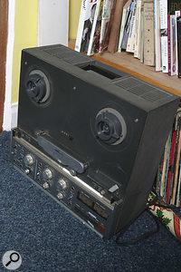 A Revox B77 stereo tape recorder, minus tape reels.