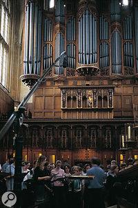 Q. How do you record a choir?