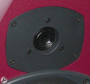 While it may be possible to draw this pushed-in tweeter dome back out, its performance will be permanently compromised.