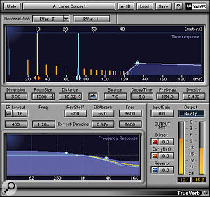 Think about the order in which you combine reverb and stereo imager plug-ins, like Waves' Trueverb and S1.
