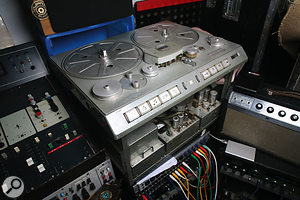 The Studer C37 two-track, which Holland hopes to get working with his Pye desk.