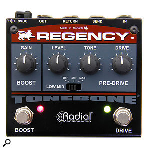 Radial Regency Pre-Drive Boost & Drive Pedal.