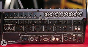 Back panel, showing the DA7's comprehensive digital interfacing and generous selection of analogue inputs and insert points.
