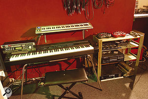 Studio sound sources include the Roland RD500 digital piano and selected rack modules.