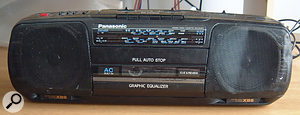 This battered ghettoblaster is a vital component of the Slo-Mo songwriting process.