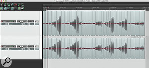 Two tracks filled with mono events that require 'gluing together' as stereo interleaved files.