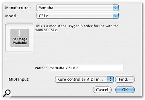 How my custom Remote device shows up in the Control Surfaces Preferences.
