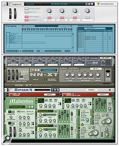 The Programmer panel lets you create keyboard splits by assigning zones to each instrument in the Combi.