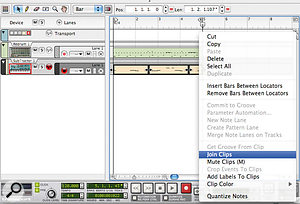The overdub can be merged with the original Clip using the 'Join Clips' command.