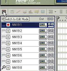 Switch to sequencer Edit Mode so that you can see individual tracks, rather than the entire arrangement.