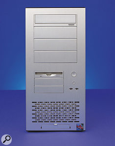 This case provides four 5.25-inch drive bays and a further three 3.5-inch bays, with five PCI slots offering extensive expansion potential.