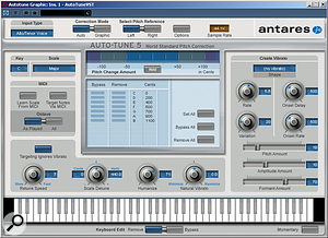 There are now many options available when it comes to pitch‑correction and manipulation plug‑ins. Some of the most popular are Antares Auto‑Tune, Waves Tune and Celemony Melodyne, all pictured above.