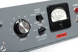 The Retro Instruments version offers far more versatile attack/release controls than the original Gates unit from the '50s.