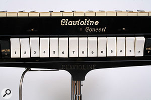 The white 'stops' were the Clavioline's tone modifiers, which could be combined in various ways to filter the harmonically rich source sound.