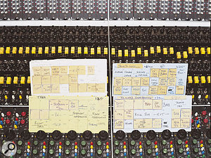 Some of Rhett Davies' original track sheet cards for the Avalon album.