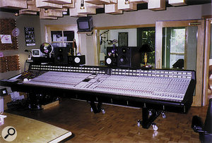The SSL G Plus desk in Bob Clearmountain's studio has had several modifications to make it more suitable for surround mixing.