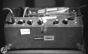 One of Rich Costey's much-loved Maestro EP4 Echoplex delays.