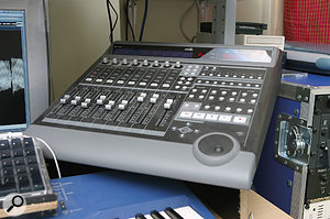 There's no longer an analogue mixing desk in the Rinse setup, but hands-on control is provided by an Emagic Logic Control surface.