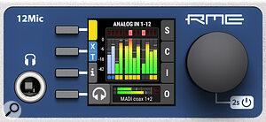 RME 12Mic screen close-up.