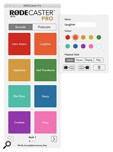 Managing the Sound Pads via the Companion App.