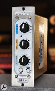 The 58LM is based on the feedforward circuitry used in Roger Mayer's highly respected RM58 stereo limiter.