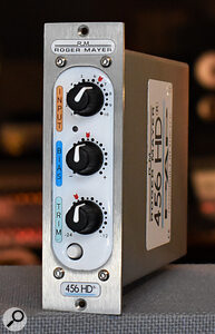 The 456HD aims to recreate the sound of aperfectly aligned Studer open‑reel tape machine with Ampex 456 tape, but without the noise, wow and flutter.