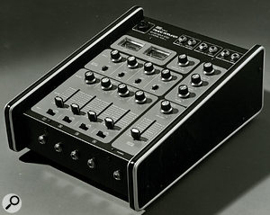 The 103 Mixer, part of Roland's System 100 semi-modular synthesis setup.