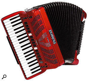 The FR5 'V-Accordion', still unreleased at the time of writing.