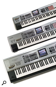 The X range is the first Fantom family to come in 61-, 76-, and 88-note versions, as well as the XR rack version (not pictured).