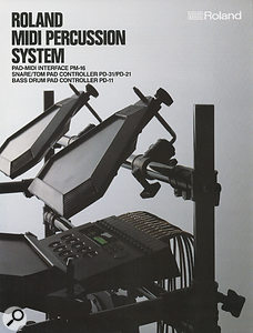 A contemporary brochure showing Roland's first foray into complete electronic drum pad systems.