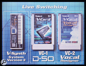 Roland V-Synth XT: VC1 & VC2 Cards