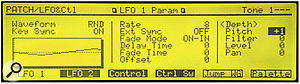 Setting up LFO 1 to produce slow 'analogue' oscillator drift.