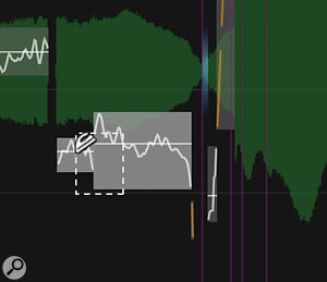 The Smooth tool is essential to a good result when you're splitting and moving notes — see how the pitch trace flows more smoothly in the right-hand 'after' screen.