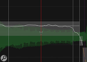 The Warp tool will be familiar to most DAW users: as with most such tools, it's often useful to create three or four warp points before moving any of them.