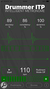 RT60 Drummer ITP Intelligent Metronome app.