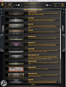 The Producer Pack bundle opens up an impressive collection of virtual equipment including a diverse selection of amps.