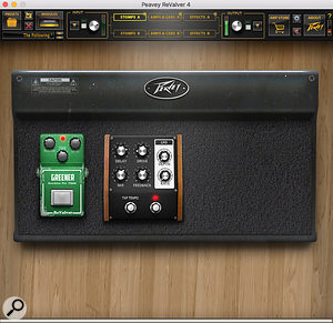 The Stomps section UI is now built around a visual representation of a hardware pedalboard that simply expands as you add more items.