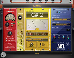 The ACT Input Shaper can try to transform your input instrument. Les Paul to nylon acoustic anyone?