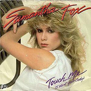 Samantha Fox Touch Me single cover artwork