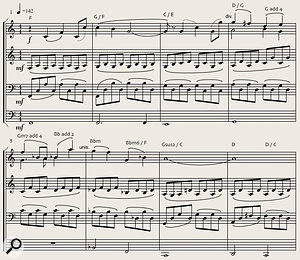 Diagram 9: Extract from The Race, used by kind permission of its composer Mike Verta. Copyright 2011 Tudor-Ford Music, BMI.