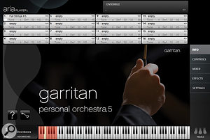 Garritan Personal Orchestra 5, in Aria Player.
