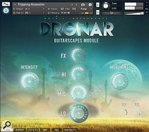 Gothic Instruments Dronar Guitarscapes main screen.